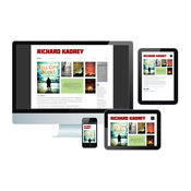 Richard Kadrey site on desktop, tablet and mobile screens