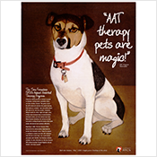 San Francisco SPCA Animal Assisted Therapy poster
