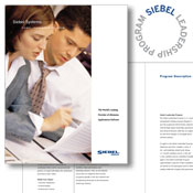 Siebel Systems Leadership Circle logo and brochure
