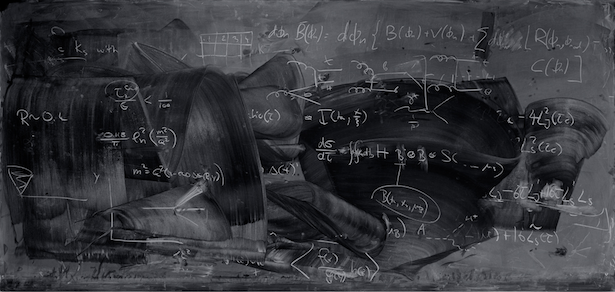 Half-erased blackboard