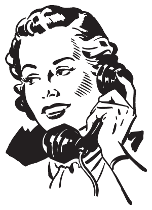 Illustration of woman on phone