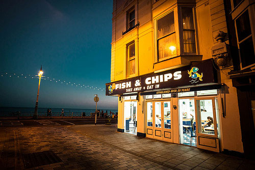 Photograph of fish and chips store
