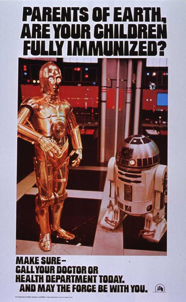 Star Wars poster: Parents of Earth: Are Your Children Fully Immunized?