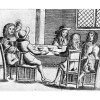 1600s men at coffeehouse