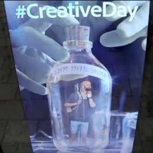 Adobe Creative Day - Man in Bottle image