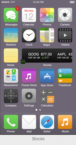 iOS7 Stocks widget
