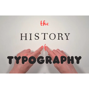 """The History of Typography"" with hands"