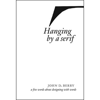 """""""Hanging By A Serif"""" book cover"""