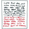 """Illustration: """"Later that day, just when everything had [undecipherable text] into a giant ball of flames."""""""