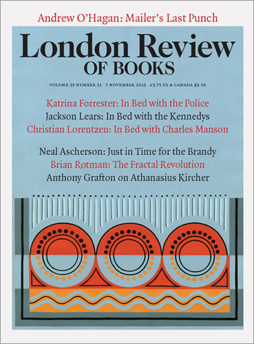 London Review of Books cover, 7 November 2013