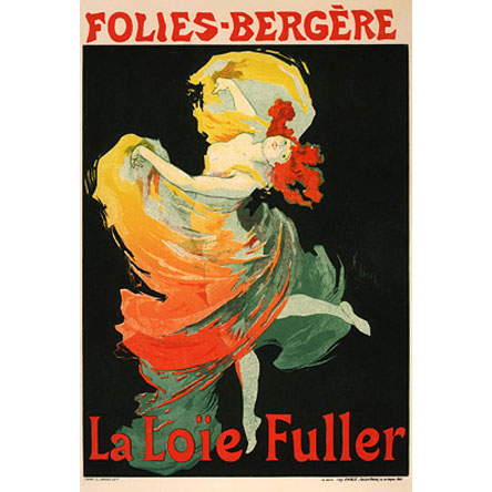 Poster for Loie Fuller at the Folies Bergere