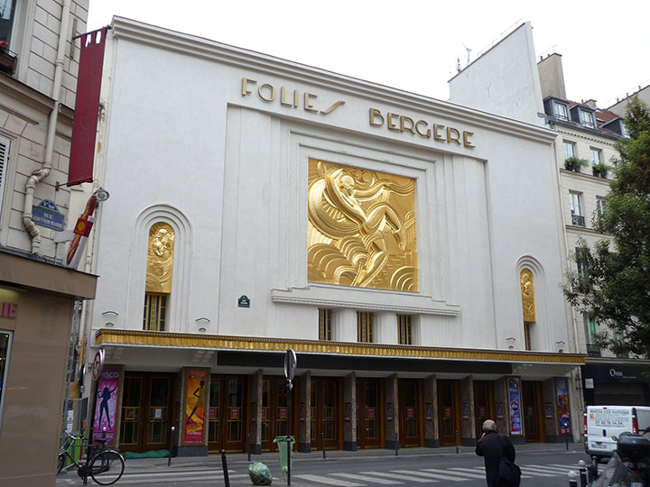 Facade of the Folies Bergere after renovation