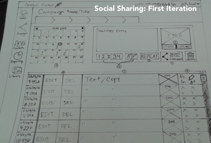 Social media sharing page first iteration