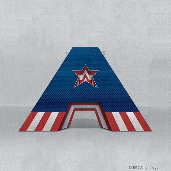 A is for Captain America