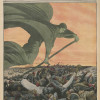 """Cover of French newspaper """"Le Petit Journal"""" with illustration of the figure of Death cutting down marching troops"""
