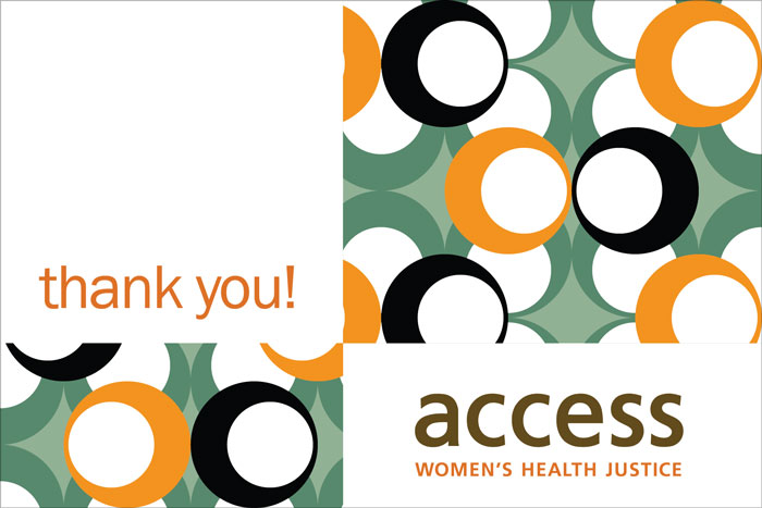 ACCESS Women's Health Justice thank-you card 1