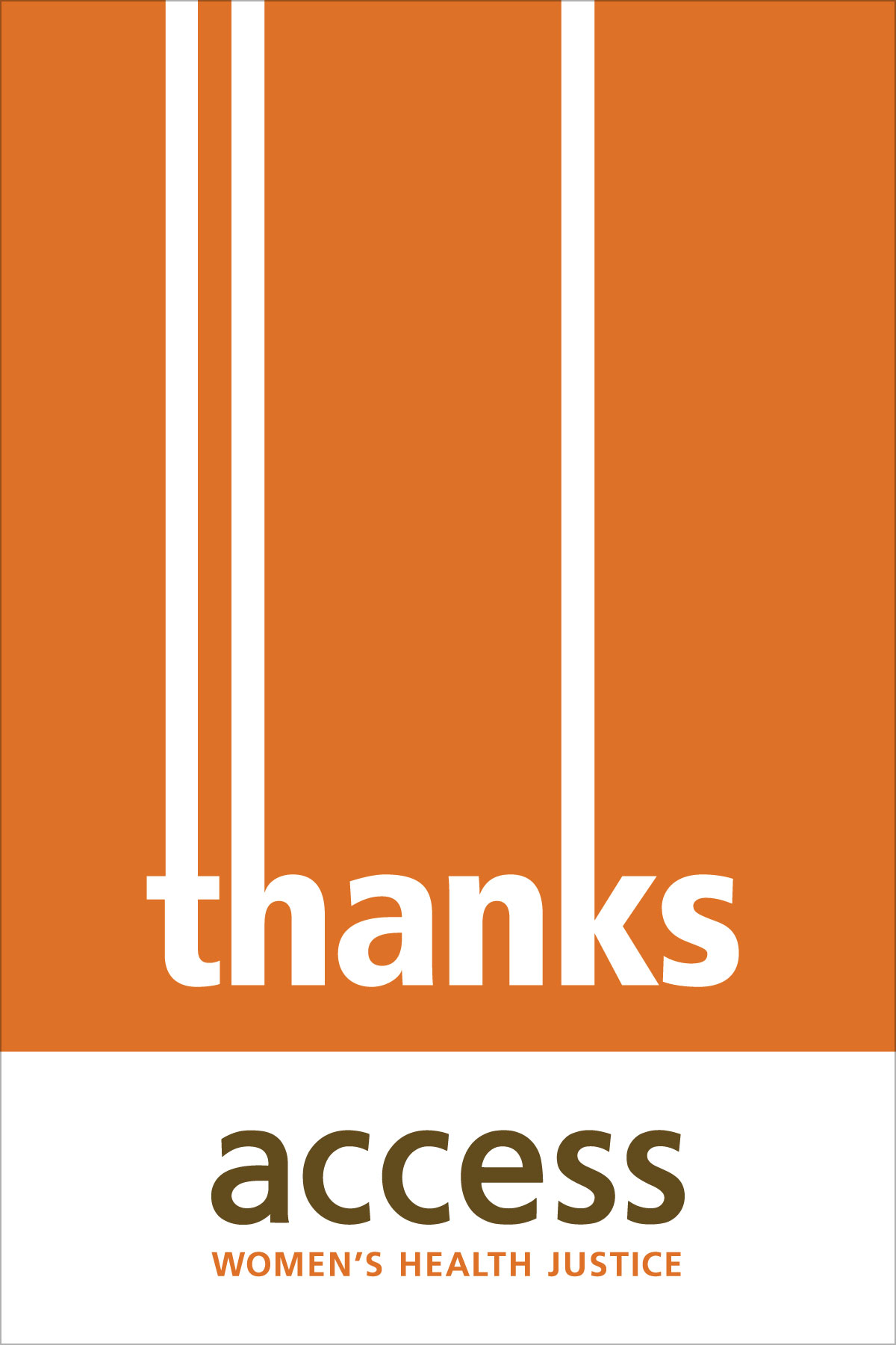 ACCESS Women's Health Justice thank-you card 2