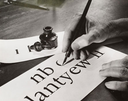 Dwiggins hand-drawing letters