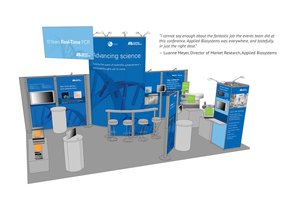 """Applied Biosystems """"Analytica"""" trade show booth"""