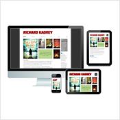 Richard Kadrey website on desktop, tablet, and phone