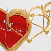 """Victorian """"Cobweb"""" valentine"""