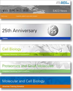 Applied Biosystems e-Newsletter banners