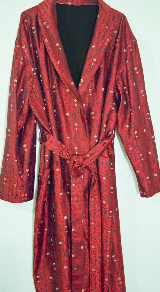Silk brocade kimono