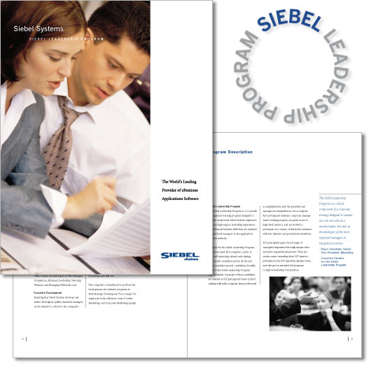 "Siebel Systems ""Leadership Circle"" logo and brochure"