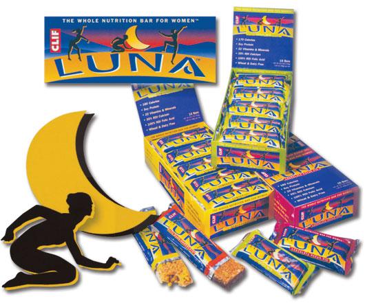 Luna Bar illustration and packaging