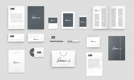Layout with corporate identity collateral