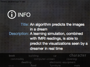 "Screenshot of video: ""An algorithm prediccts the images within a dream"""