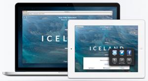 "Desktop and laptop images of ""Iceland"" photo portfolio"