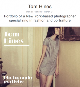 Tom Hines fashion and portraiture photography