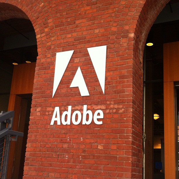 Adobe logo on wall