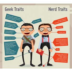 Geek vs nerd traits