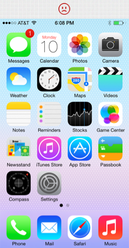 iOS homescreen