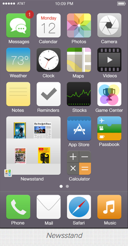 iOS7 Newsstand widget