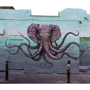 """""""Octophant"""" mural"""