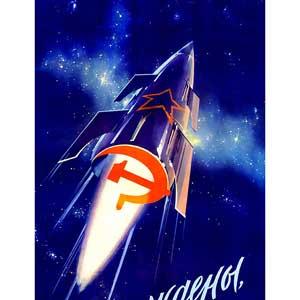 Soviet rocket poster