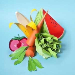 Papercraft foods