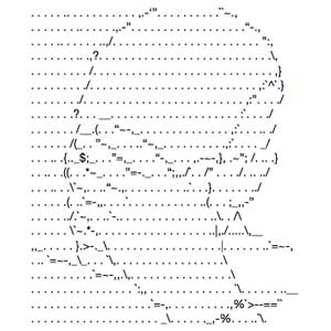 ASCII facepalm image