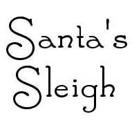 """Santa's Sleigh"" font"