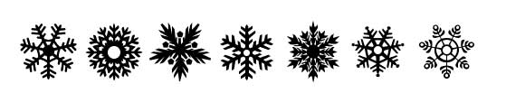 """Snowflakes"" font"