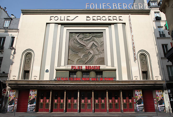 Facade of the Folies Bergere before renovation