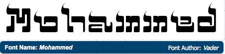 Mohammed font