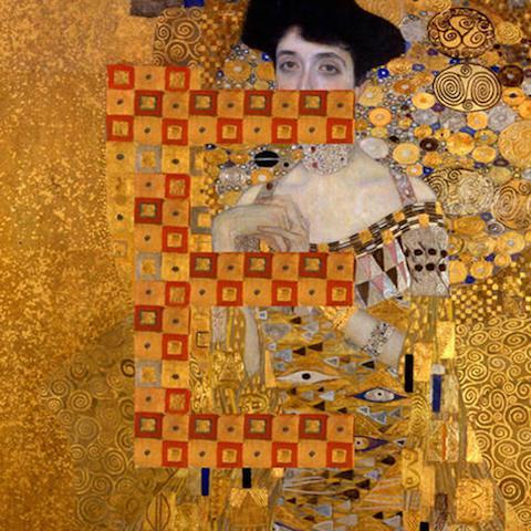 """Klimt 'Adele Bloch-Bauer' - """"E"""""""