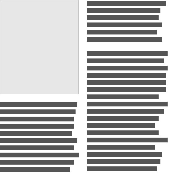 Redacted font used in layout