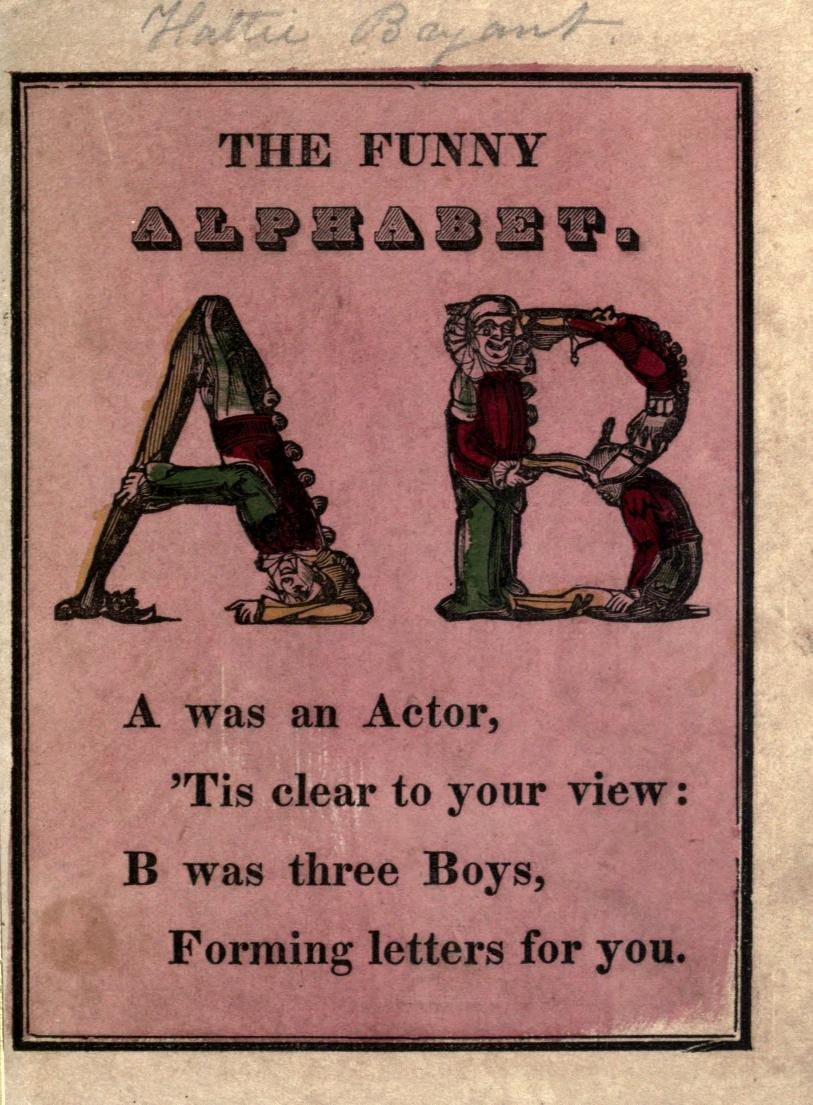 The letters A and B