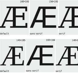 AE Æ glyphs