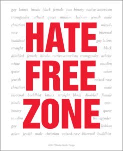 Hate Free Zone poster - English